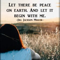 World Peace Begins Within Us